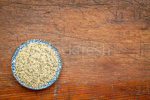 shelled hemp seeds (hearts) Stock photo © PixelsAway