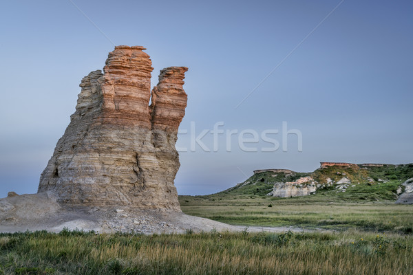 Kastély kő Kansas préri mészkő oszlop Stock fotó © PixelsAway