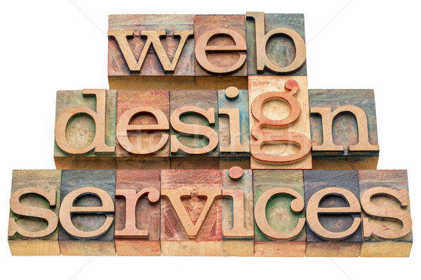 Stock photo: web design services