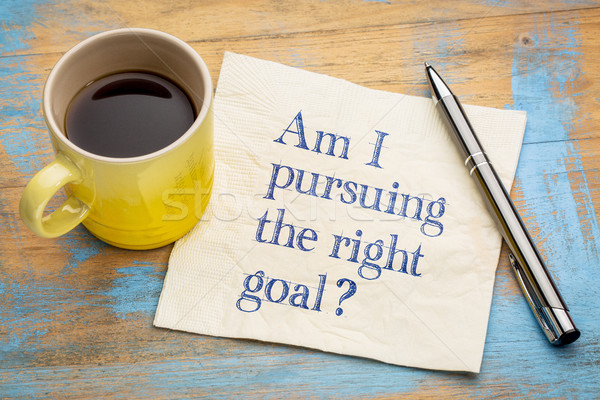 Am I pursuing the right goal? Stock photo © PixelsAway