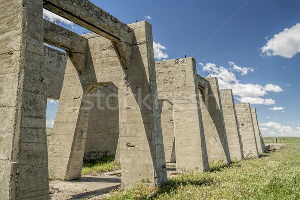 Ruínas planta concreto um cinco redução Foto stock © PixelsAway
