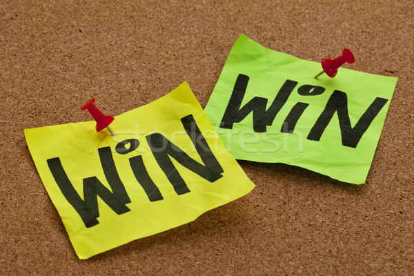 win-win strategy concept Stock photo © PixelsAway