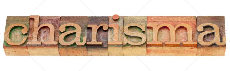 Słowo typu odizolowany vintage drewna Zdjęcia stock © PixelsAway