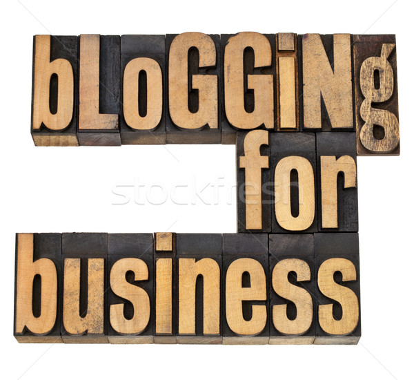 Blogging affaires internet isolé texte vintage Photo stock © PixelsAway