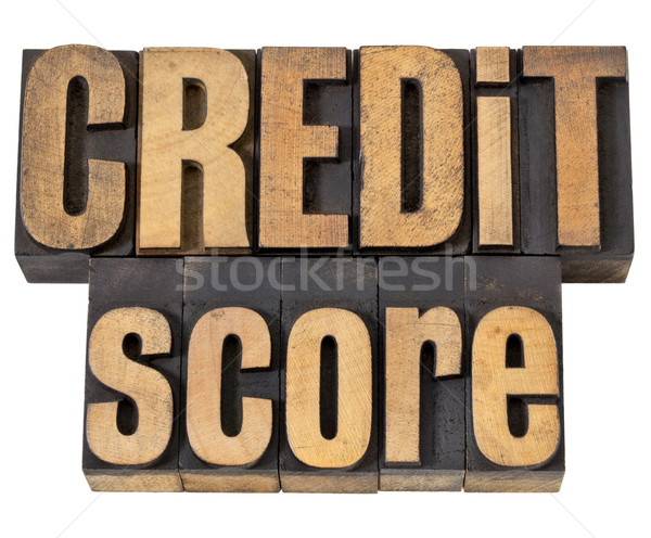 credit score in wood type Stock photo © PixelsAway