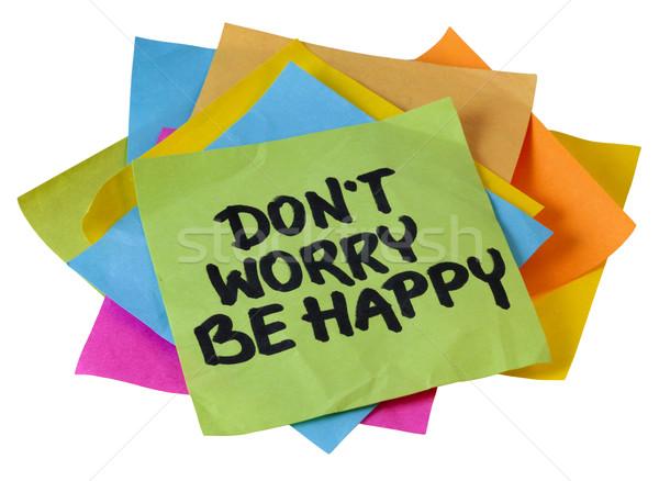 don't worry be happy Stock photo © PixelsAway
