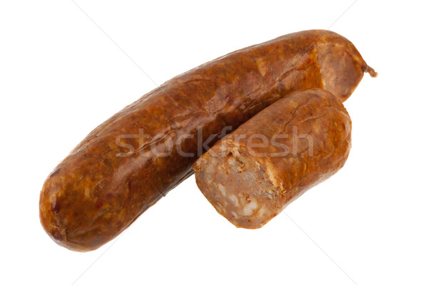 cooked chorizo sausage on white Stock photo © PixelsAway
