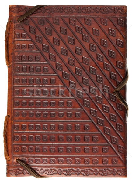 diary or journal in a red stamped leather Stock photo © PixelsAway