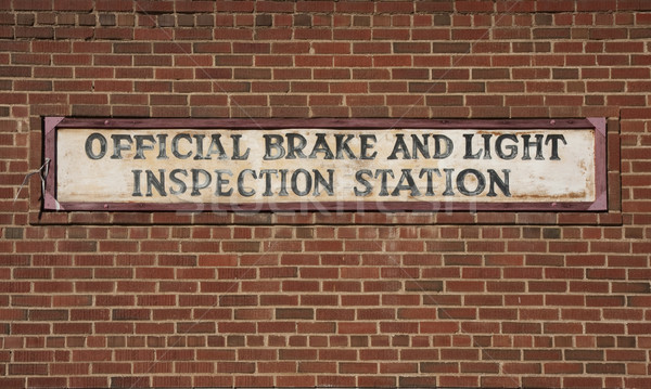 vintage brake and light inspection sign  Stock photo © PixelsAway