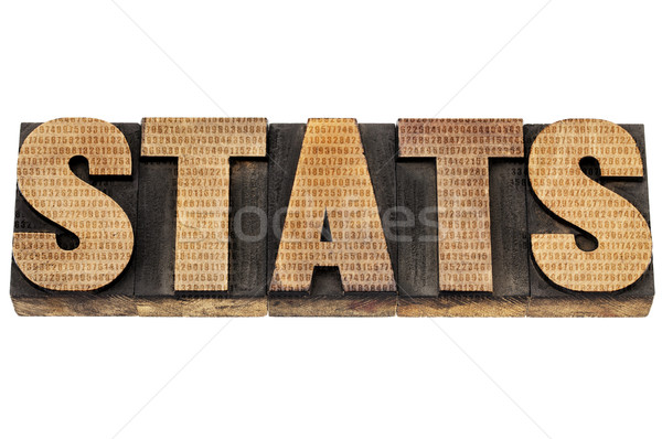 stats in wood type with numbers Stock photo © PixelsAway