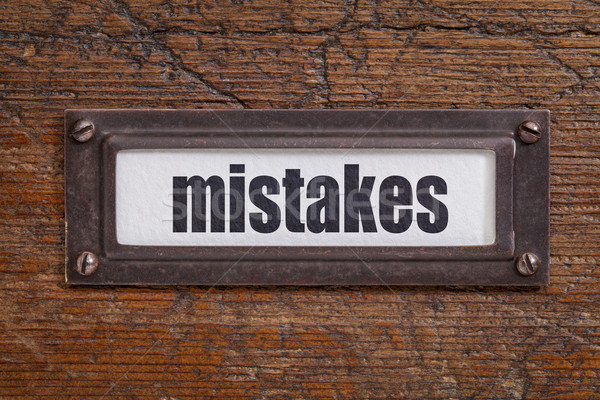 mistakes - file cabinet label Stock photo © PixelsAway