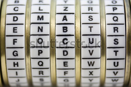 Password, keyword or combination - truth. Puzzle box - cryptex. Stock photo © PixelsAway