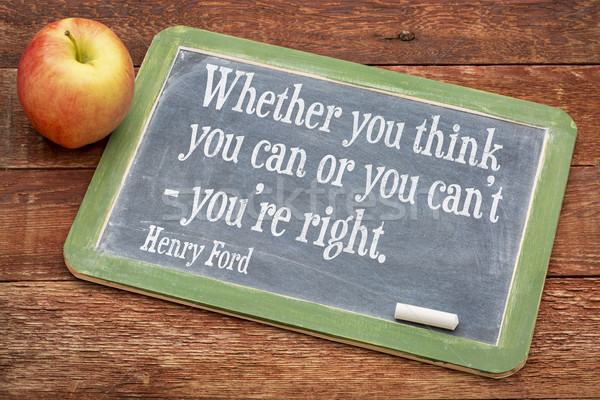 motivational quote by Henry Ford Stock photo © PixelsAway