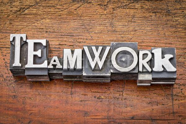 teamwork word in metal type Stock photo © PixelsAway