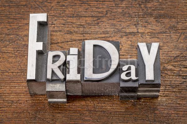 Friday word in mixed vintage metal type Stock photo © PixelsAway