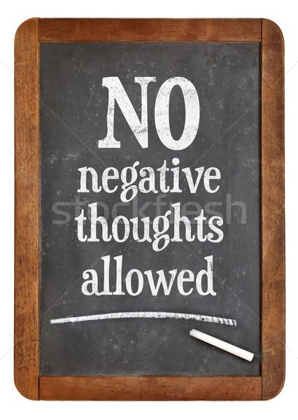 Nie negatywne myśli dozwolony pozytywny Zdjęcia stock © PixelsAway
