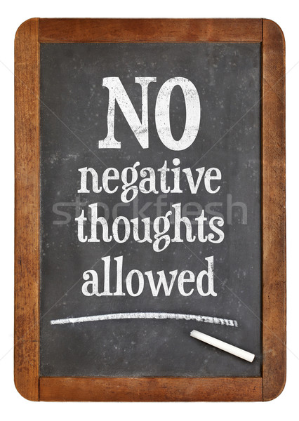 Negatif düşünceler izin motivasyon pozitif Stok fotoğraf © PixelsAway