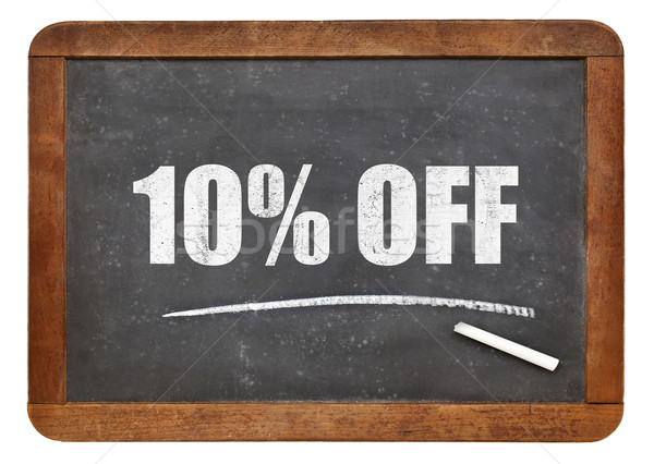 Diez por ciento pizarra signo texto Foto stock © PixelsAway