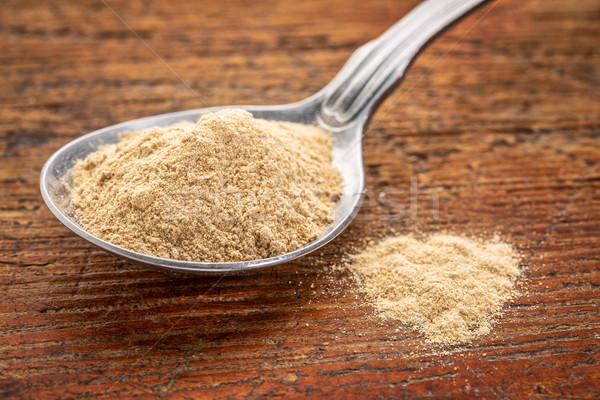 maca root powder on tablespoon Stock photo © PixelsAway