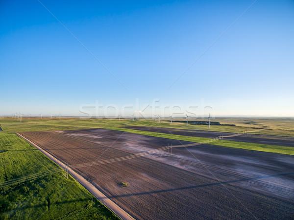 farmland in eastern Colorado aerial view Stock photo © PixelsAway