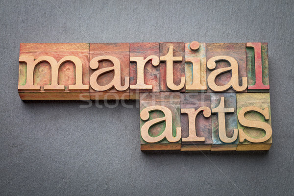 martial arts word abstract in wood type Stock photo © PixelsAway