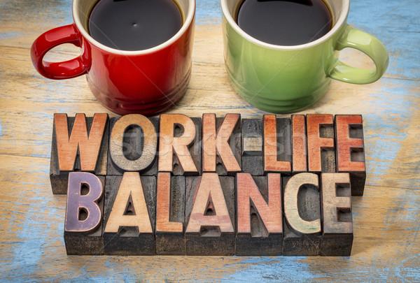 work life balance concept Stock photo © PixelsAway