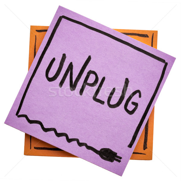 unplug - information overload concept Stock photo © PixelsAway