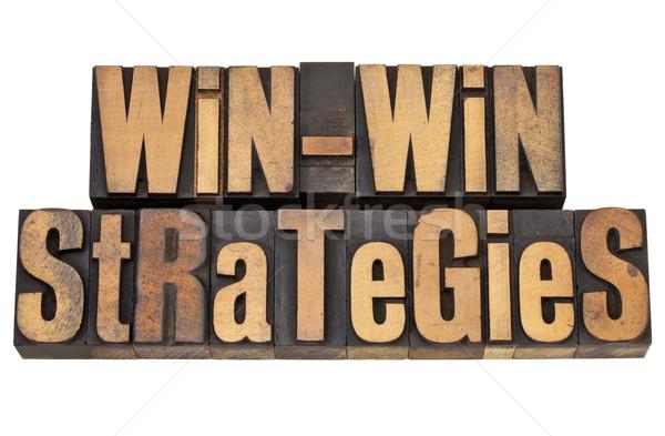 Estrategias negocios madera vintage blanco juego Foto stock © PixelsAway