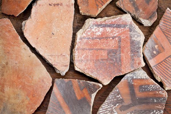 Indiai cserépedények ősi őslakos amerikai indián néhány Stock fotó © PixelsAway