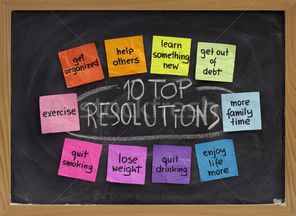 Stock photo: 10 top new year resolutions