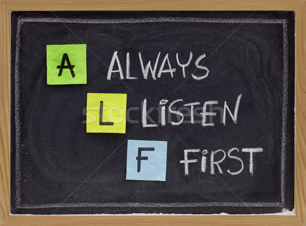 always listen first - ALF acronym Stock photo © PixelsAway