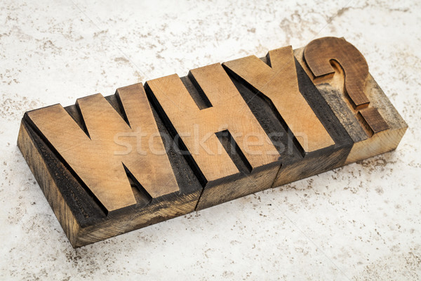 why question in wood type Stock photo © PixelsAway