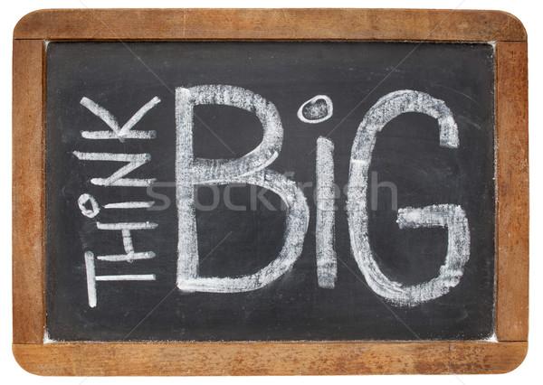 Stock photo: think big on blackboard