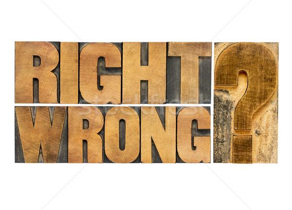 Doğru yanlış soru etik seçim ikilem Stok fotoğraf © PixelsAway