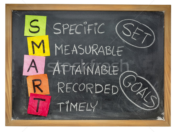set smart goals on blackboard Stock photo © PixelsAway