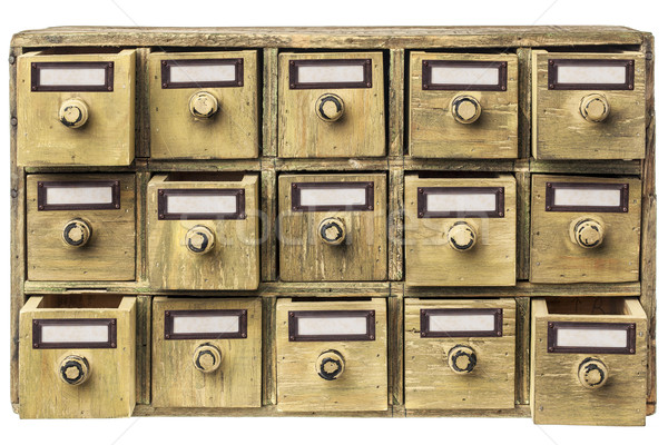 primitive drawer cabinet Stock photo © PixelsAway