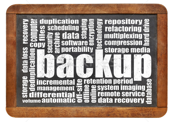 backup word cloud Stock photo © PixelsAway
