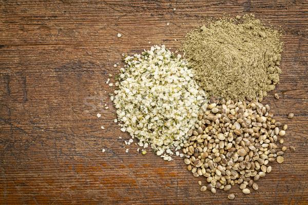 hemp seed and protein powder Stock photo © PixelsAway