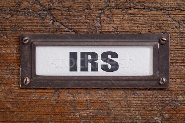 IRS - file cabinet label Stock photo © PixelsAway