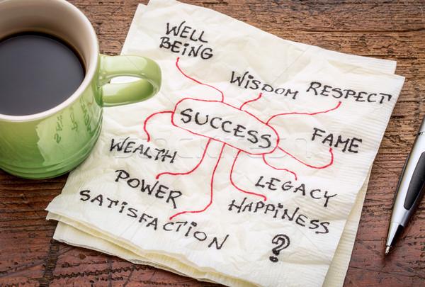 Succes servet beker koffie macht concept Stockfoto © PixelsAway