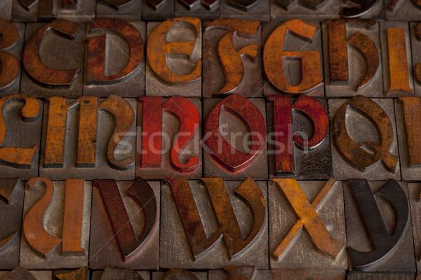 antique letterpress alphabet Stock photo © PixelsAway