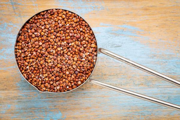 scoop of red quinoa grain Stock photo © PixelsAway