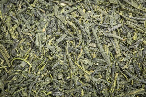 Sencha Saga green tea background Stock photo © PixelsAway