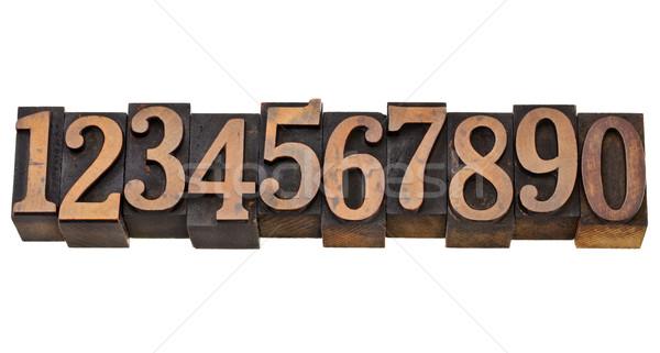 Números zero nove dez árabe numerais Foto stock © PixelsAway