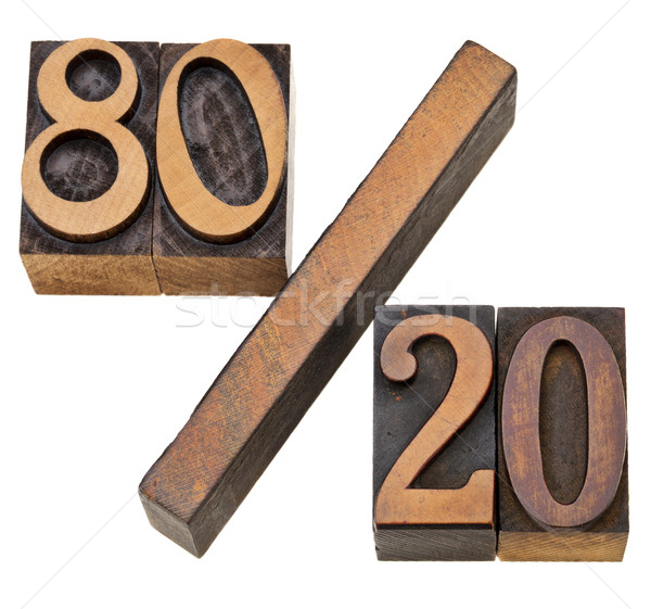 Pareto principle in letterpress type Stock photo © PixelsAway