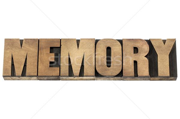 memory in wood type Stock photo © PixelsAway