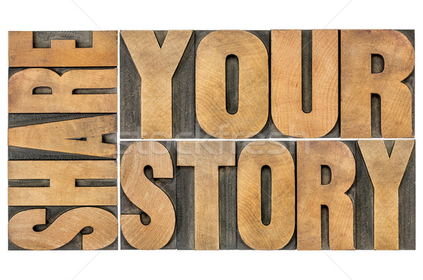 share your story Stock photo © PixelsAway