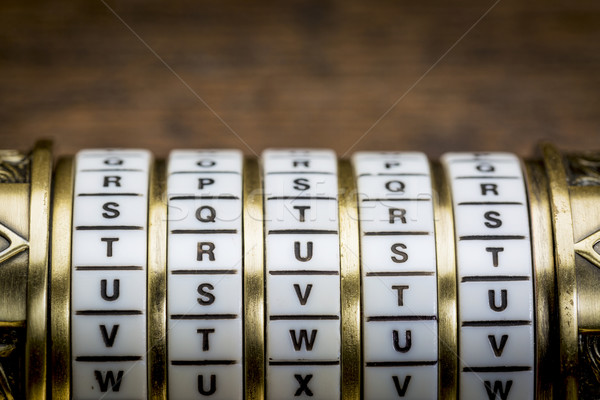 Stock fotó: Bizalom · szó · jelszó · kombináció · puzzle · doboz