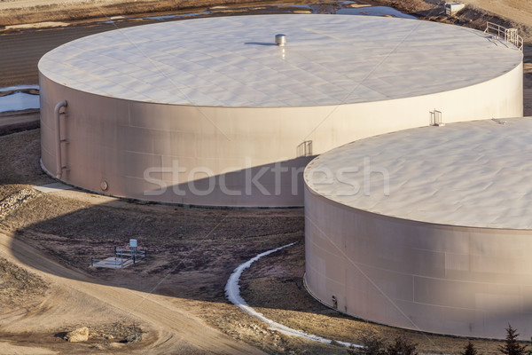 round water tanks Stock photo © PixelsAway
