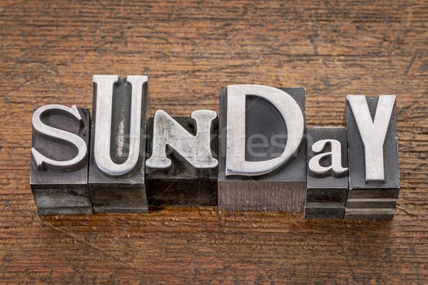 Sunday in metal type Stock photo © PixelsAway